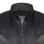 Bartlett Leather Jacket // Black (3XL)