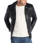 Ashbury Leather Jacket // Black (2XL)