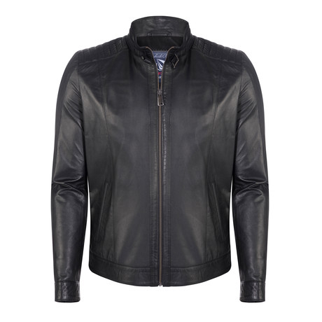 Bartlett Leather Jacket // Black (XS)