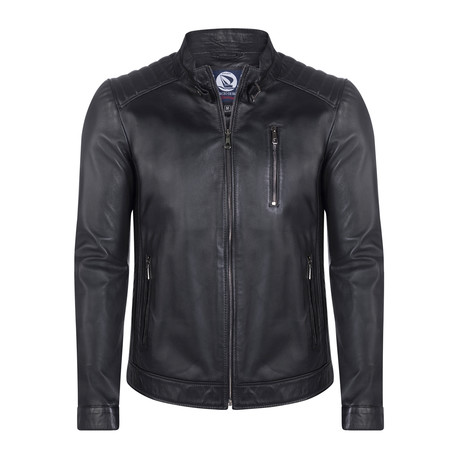 Embarcadero Leather Jacket // Black (XS)