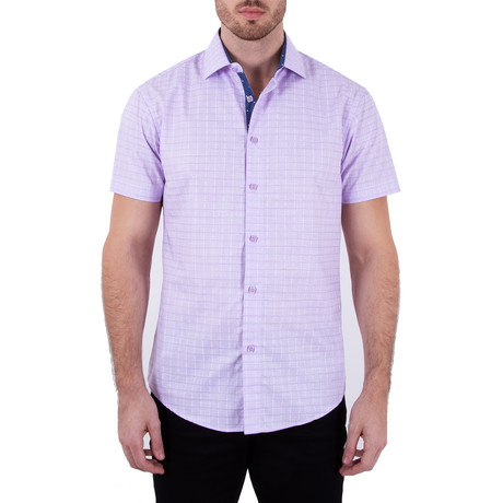 Sterling Short Sleeve Button-Up Shirt // Lilac (XS)