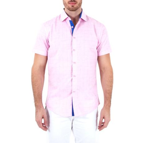 Julian Short Sleeve Button-Up Shirt // Pink (XS)