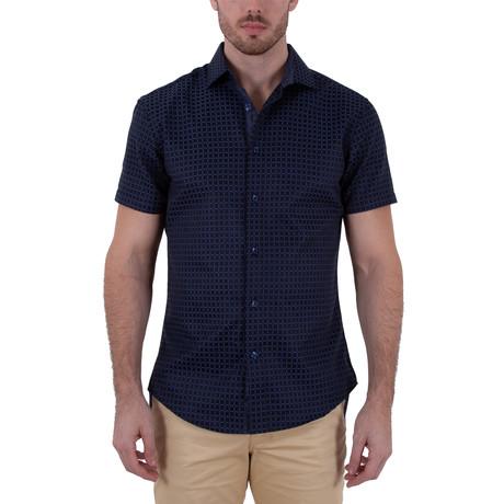 Triston Short Sleeve Button-Up Shirt // Black (XS)