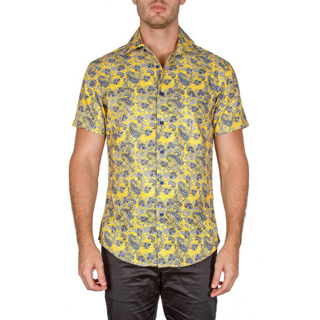 Dale Short Sleeve Button-Up Shirt // Yellow (XS)
