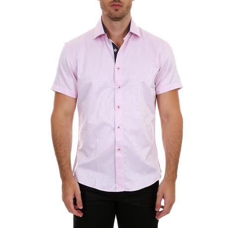 Nash Short Sleeve Button-Up Shirt // Pink (XS)