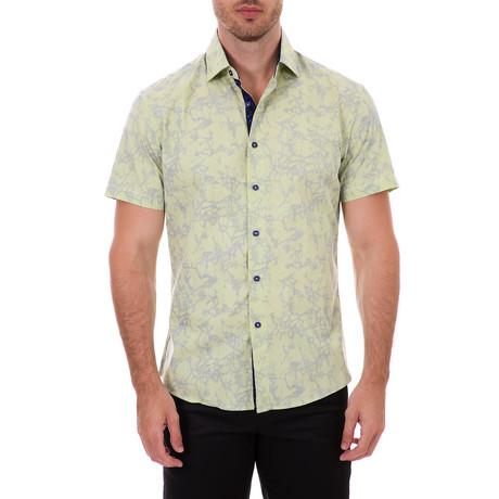 Ernest Short Sleeve Button-Up Shirt // Green (XS)