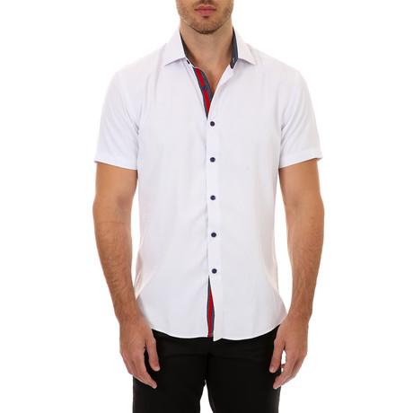Luke Short-Sleeve Button-Up Shirt // White (XS)