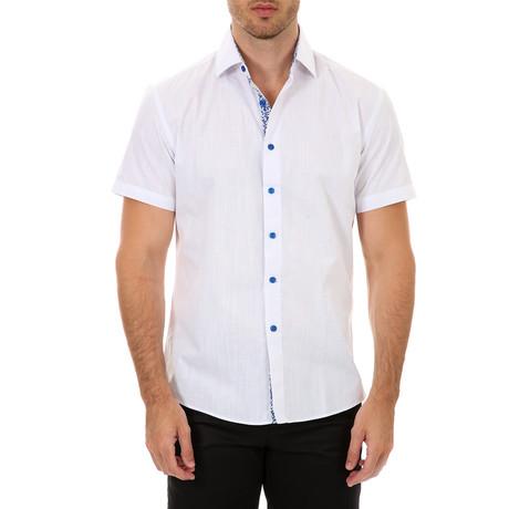 Niko Short Sleeve Button-Up Shirt // White (XS)