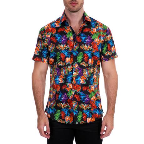 Orlando Short Sleeve Button-Up Shirt // Black (XS)