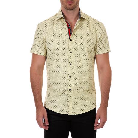 Zackary Short Sleeve Button-Up Shirt // Yellow (XS)