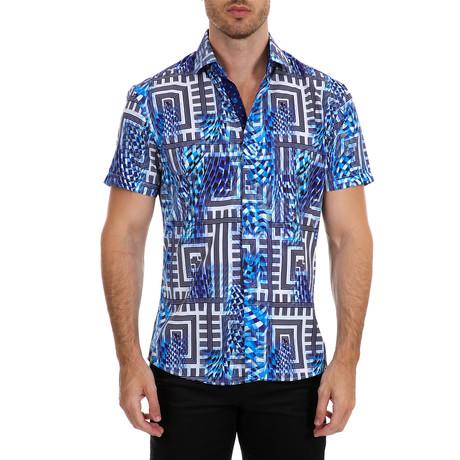Alonso Short Sleeve Button-Up Shirt // Blue (XS)