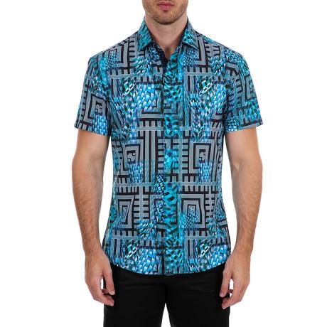 Gavin Short-Sleeve Button-Up Shirt // Green (XS)
