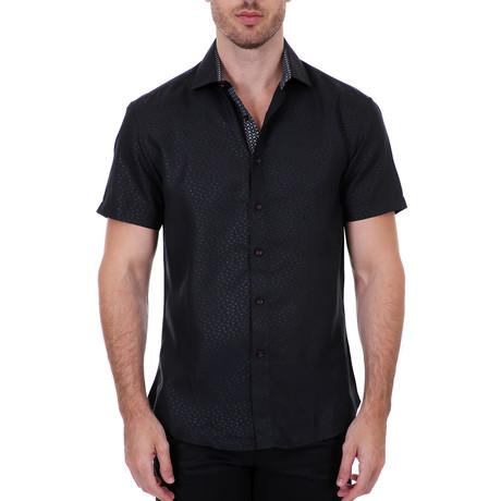 Alvin Short-Sleeve Button-Up Shirt // Black (XS)