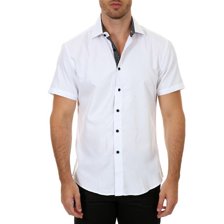 Bryce Short Sleeve Button-Up Shirt // White (XS)
