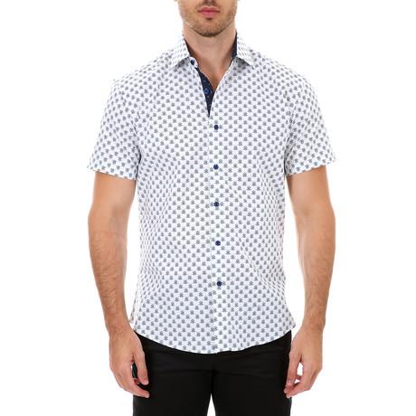 Izaiah Short Sleeve Button-Up Shirt // White (XS)