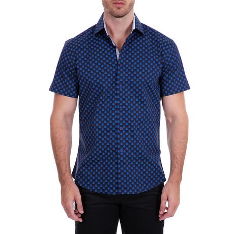 Alvaro Short Sleeve Button-Up Shirt // Navy (XS)