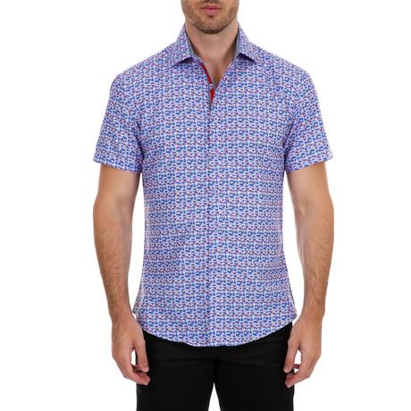 Marcelo Short Sleeve Button-Up Shirt // Blue (XS)