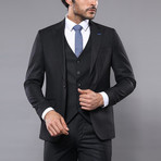 Jason 3-Piece Slim Fit Suit // Black (Euro: 48)