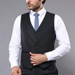 Jason 3-Piece Slim Fit Suit // Black (Euro: 44)