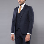 Kale 3-Piece Slim-Fit Suit // Navy (Euro: 54)