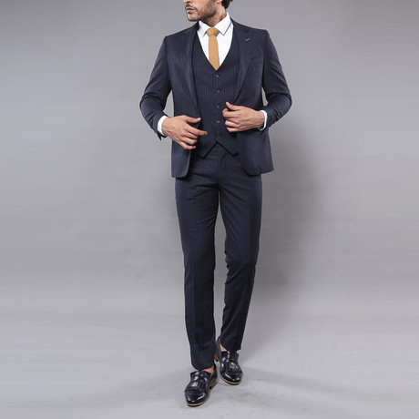 Kale 3-Piece Slim-Fit Suit // Navy (Euro: 44)