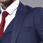 Brock 3-Piece Slim-Fit Suit // Navy (Euro: 48)