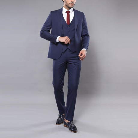 Brock 3-Piece Slim-Fit Suit // Navy (Euro: 44)