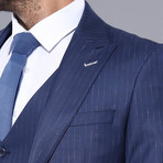 Aditya 3-Piece Slim-Fit Suit // Navy (Euro: 46)