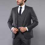 Marco 3-Piece Slim Fit Suit // Smoked (Euro: 48)