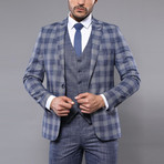 Gilberto 3-Piece Slim Fit Suit // Light Blue (Euro: 56)