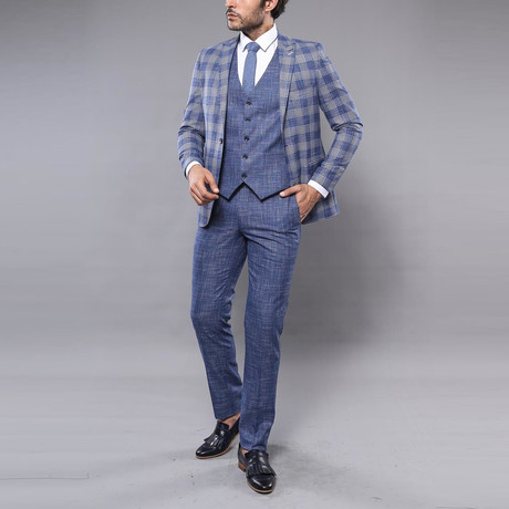David 3-Piece Slim Fit Suit // Light Blue (Euro: 44)