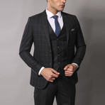 Peter 3-Piece Slim-Fit Suit // Black (Euro: 56)
