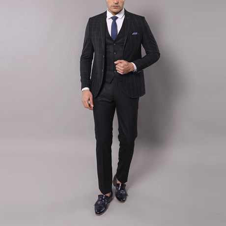 Peter 3-Piece Slim-Fit Suit // Black (Euro: 44)