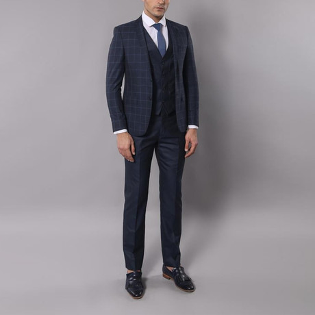 Gregory 3-Piece Slim-Fit Suit // Navy (Euro: 44)