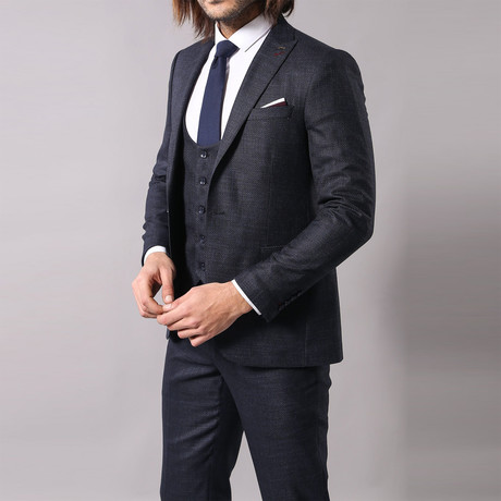 Isaac 3-Piece Slim Fit Suit // Navy (Euro: 44)