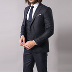 Isaac 3-Piece Slim Fit Suit // Navy (Euro: 46)