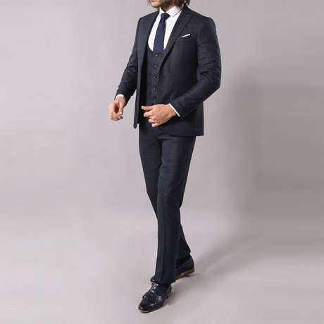 Isaac 3-Piece Slim-Fit Suit // Navy (Euro: 44)