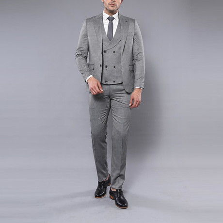Dallas 3-Piece Slim-Fit Suit // Gray (Euro: 44)