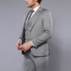 Dallas 3-Piece Slim-Fit Suit // Gray (Euro: 46)