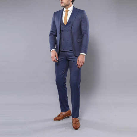Tristian 3-Piece Slim-Fit Suit // Navy (Euro: 44)