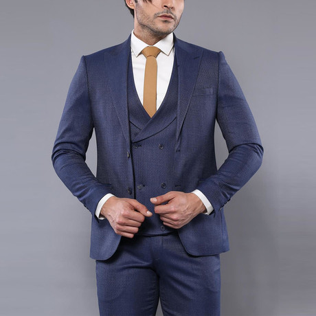 Tristian 3-Piece Slim Fit Suit // Navy (Euro: 44)