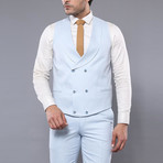 Cortez 3-Piece Slim Fit Suit // Light Blue (Euro: 48)