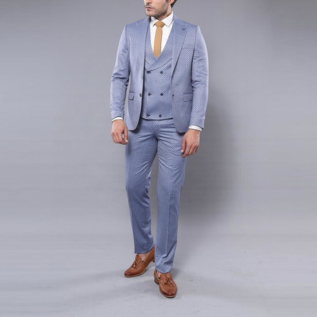 Joel 3-Piece Slim-Fit Suit // Light Blue (Euro: 44)