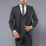 Jimmy 3-Piece Slim Fit Suit // Smoked (Euro: 56)