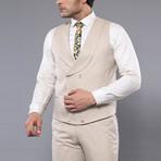 Alessandro 3-Piece Slim Fit Suit // Beige (Euro: 50)