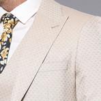 Alessandro 3-Piece Slim Fit Suit // Beige (Euro: 44)
