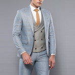 Marcelo 3-Piece Slim-Fit Suit // Green (Euro: 52)