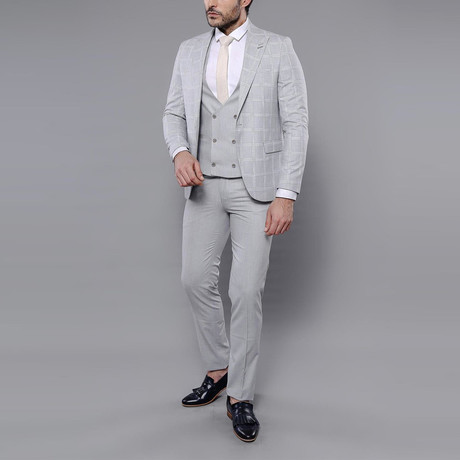 Kieran 3-Piece Slim Fit Suit // Gray (Euro: 42)
