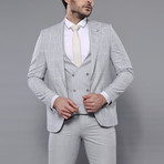 Kieran 3-Piece Slim Fit Suit // Gray (Euro: 48)