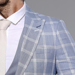 Brady 3-Piece Slim Fit Suit // Light Blue (Euro: 52)
